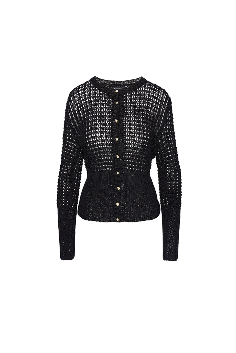 01. MANEMANE BLACK KNITTED JACKET
